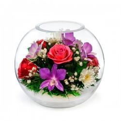 48.593 Цветы в стекле ~ вакуум*~